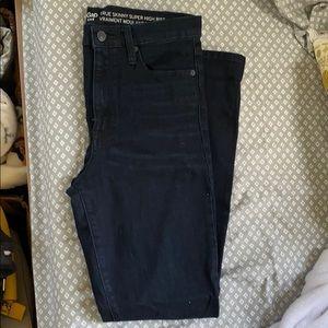 GAP dark skinny high rise jeans